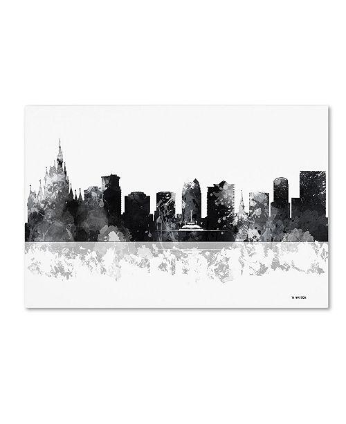 "Trademark Global Marlene Watson 'Orlando Florida Skyline BG-1' Canvas Art - 16"" x 24"""