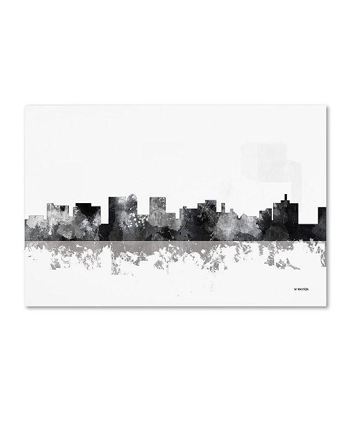 "Trademark Global Marlene Watson 'Topeka Kansas Skyline BG-1' Canvas Art - 16"" x 24"""