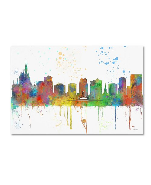 "Trademark Global Marlene Watson 'Orlando Florida Skyline Mclr-1' Canvas Art - 16"" x 24"""