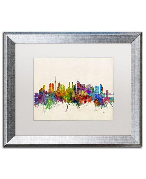 """Trademark Global Michael Tompsett 'Tokyo Japan Skyline II' Matted Framed Art - 16"""" x 20"""""""