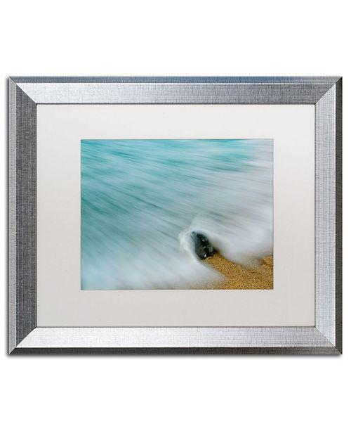 "Trademark Global PIPA Fine Art 'Whelk Seashell and Misty Wave' Matted Framed Art - 16"" x 20"""