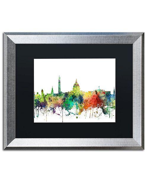 """Trademark Global Marlene Watson 'Washington DC Skyline SP' Matted Framed Art - 16"""" x 20"""""""