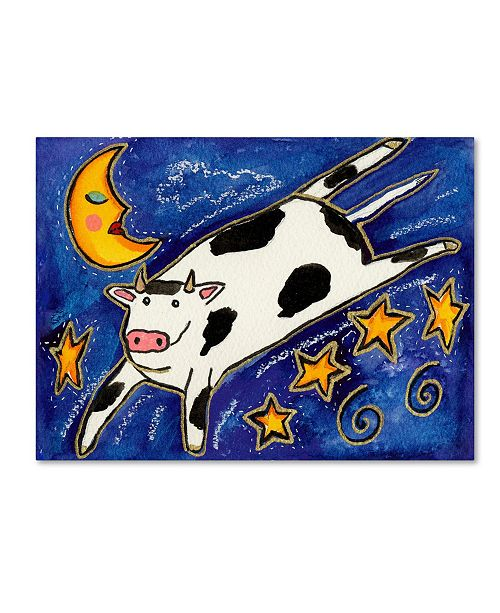 """Trademark Global Wyanne 'The Cow That Jumped Over The Moon' Canvas Art - 18"""" x 24"""""""