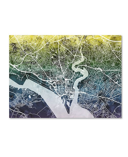 "Trademark Global Michael Tompsett 'Southampton England City Map VI' Canvas Art - 18"" x 24"""