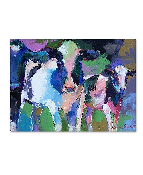 """Trademark Global Richard Wallich 'Art 3 Cows' Canvas Art - 18"""" x 24"""""""