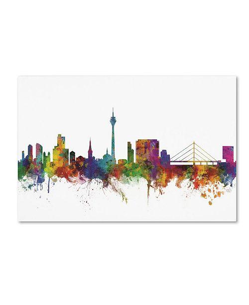 "Trademark Global Michael Tompsett 'Dusseldorf Germany Skyline IV' Canvas Art - 16"" x 24"""