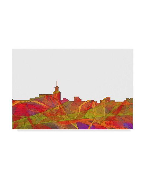 "Trademark Global Marlene Watson 'Santa Fe New Mexico Skyline Swirl' Canvas Art - 16"" x 24"""
