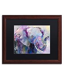 """Richard Wallich 'Blue Elephant' Matted Framed Art - 16"""" x 20"""""""