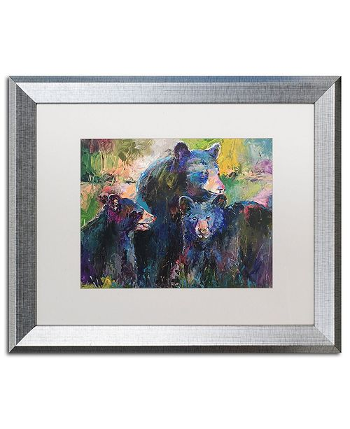"Trademark Global Richard Wallich 'Art Bear Family' Matted Framed Art - 16"" x 20"""