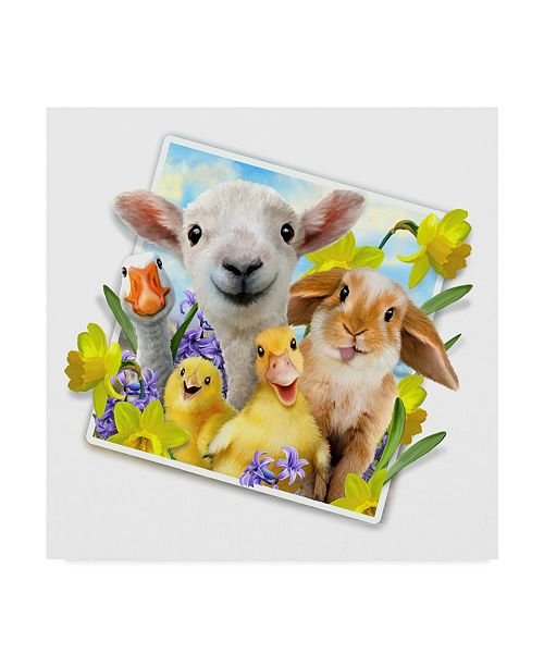 """Trademark Global Howard Robinson 'Spring Picture' Canvas Art - 18"""" x 18"""""""