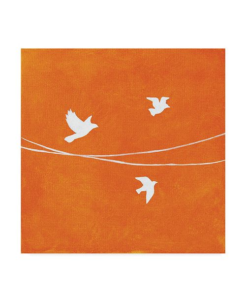 "Trademark Global Nicole Dietz 'Spreading Wings Flying' Canvas Art - 18"" x 18"""