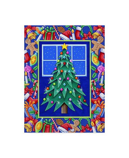 "Trademark Global Kimura Designs 'Christmas Tree' Canvas Art - 18"" x 24"""