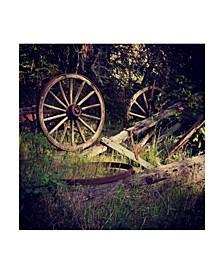 "Lance Kuehne 'Wagon Wheels' Canvas Art - 18"" x 18"""