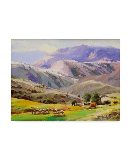 "Trademark Global Steve Henderson 'Grazing In The Salmon River Mountains' Canvas Art - 18"" x 24"""
