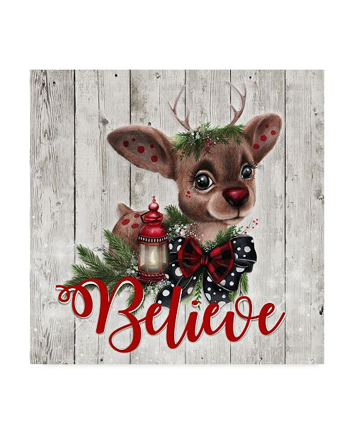 "Trademark Global Sheena Pike Art And Illustration 'Rudolph' Canvas Art - 18"" x 18"""