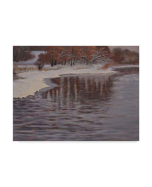 "Trademark Global Rusty Frentner 'Huron River Cold' Canvas Art - 18"" x 24"""