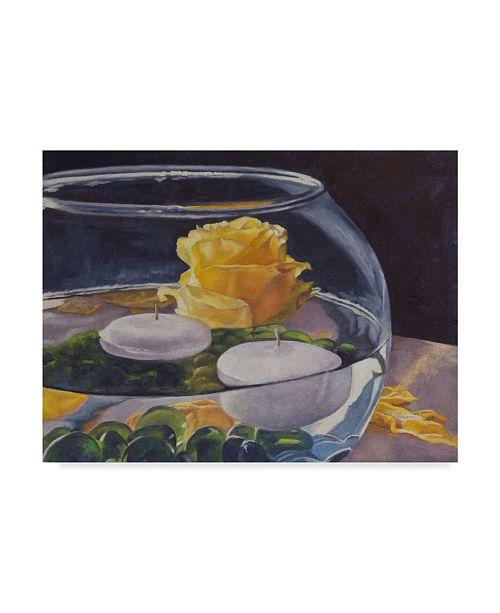 "Trademark Global Rusty Frentner 'Yellow Rose' Canvas Art - 18"" x 24"""