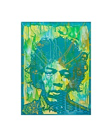 "Dean Russo 'Jimi Hendrix V' Canvas Art - 18"" x 24"""