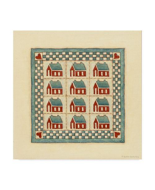 "Trademark Global Robin Betterley 'House Patchwork' Canvas Art - 18"" x 18"""