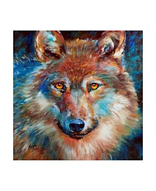 "Marcia Baldwin 'Timber Wolf Abstract' Canvas Art - 18"" x 18"""