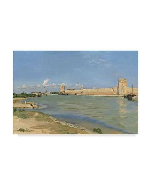 """Trademark Global Jean Frederic Bazille 'The Ramparts At Aiguesmortes' Canvas Art - 24"""" x 16"""""""
