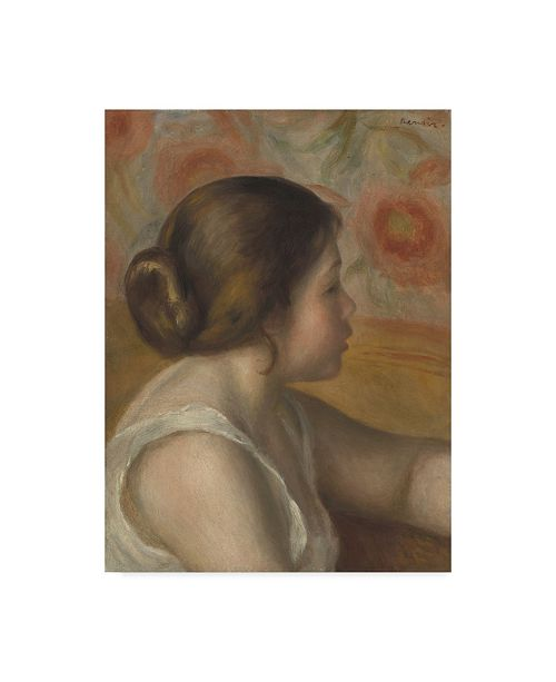 "Trademark Global Pierre Auguste Renoir 'Head Of A Young Girl' Canvas Art - 19"" x 14"""