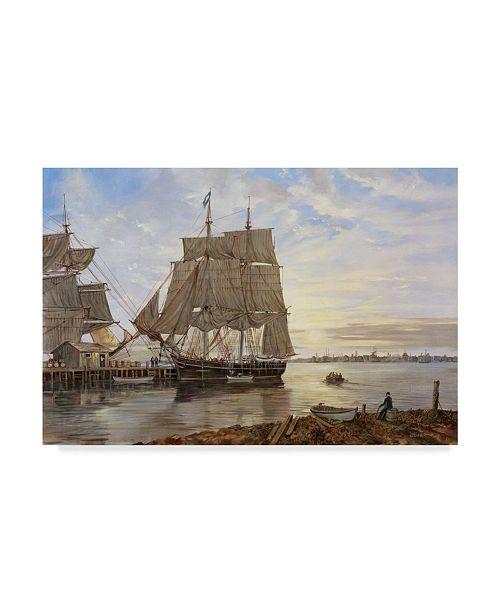 "Trademark Global Jack Wemp 'Ship Over Water' Canvas Art - 24"" x 16"""