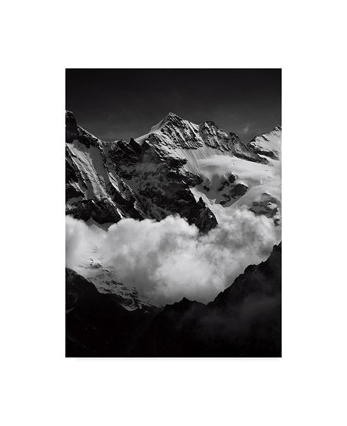 "Trademark Global Istvan Nagy 'Mountains Bw' Canvas Art - 18"" x 24"""
