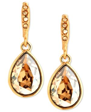 Givenchy Earrings, Gold-Tone Golden Shadow Swarovski Element Drop Earrings thumbnail