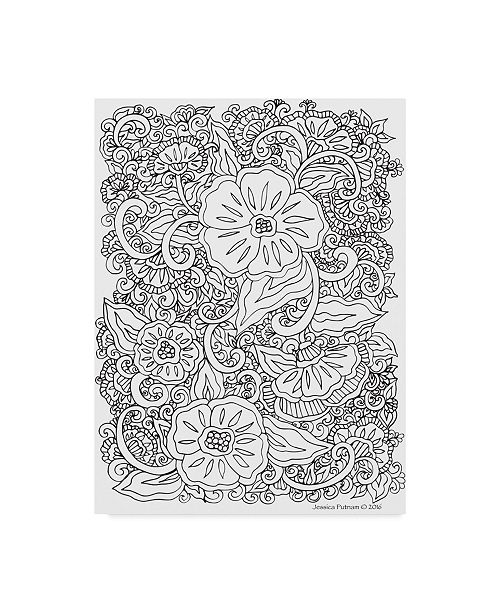 "Trademark Global Jessica Putnam 'Floral 32' Canvas Art - 14"" x 19"""