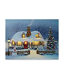 "Heather Burns 'Candlelight Christmas' Canvas Art - 19"" x 14"""