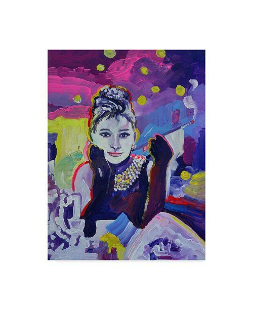 "Trademark Global Howie Green 'Audrey Hepburn Tiffanys' Canvas Art - 24"" x 32"""