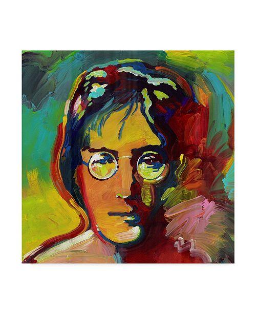 "Trademark Global Howie Green 'John Lennon Color' Canvas Art - 18"" x 18"""