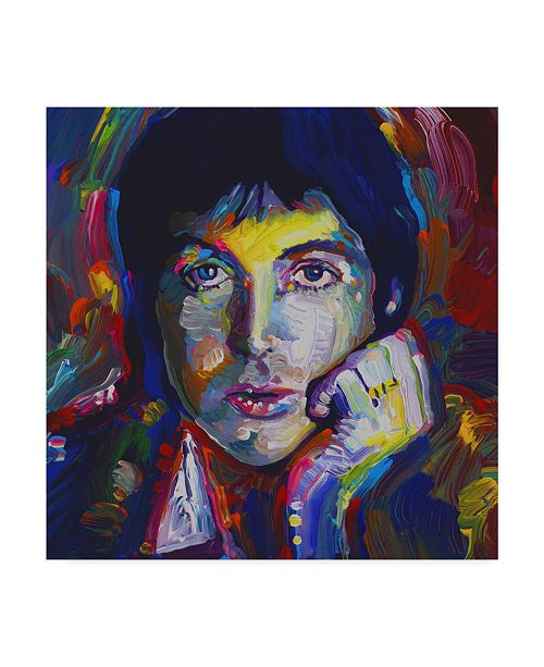"Trademark Global Howie Green 'Paul Mccartney Portrait' Canvas Art - 14"" x 14"""