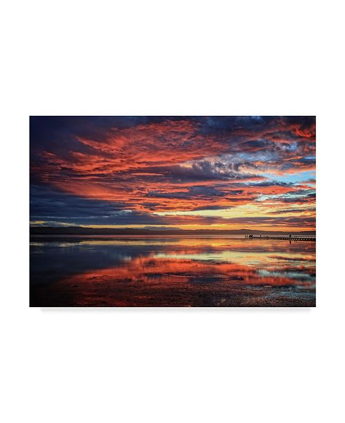 """Trademark Global Incredi 'Red Sunset Clouds' Canvas Art - 19"""" x 12"""""""
