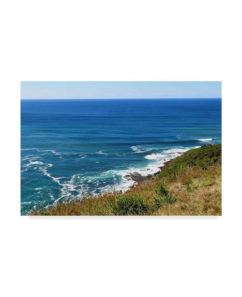 "Trademark Global Incredi 'Blue Waves Ocean' Canvas Art - 19"" x 12"""