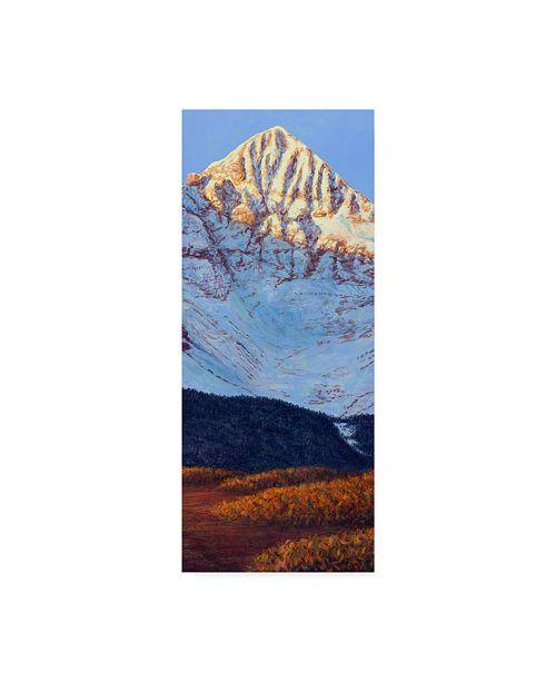 "Trademark Global James W. Johnson 'Wilsons Peak In Fall' Canvas Art - 10"" x 24"""