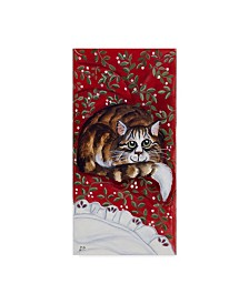 "Jan Panico 'Rudolph Keeping Watch' Canvas Art - 16"" x 32"""