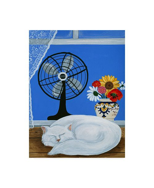 "Trademark Global Jan Panico 'Some Like It Hot Cat' Canvas Art - 24"" x 32"""