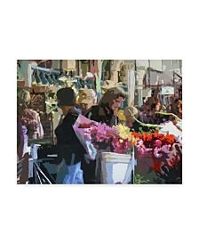 "J Arthur 'The Shops' Canvas Art - 19"" x 14"""