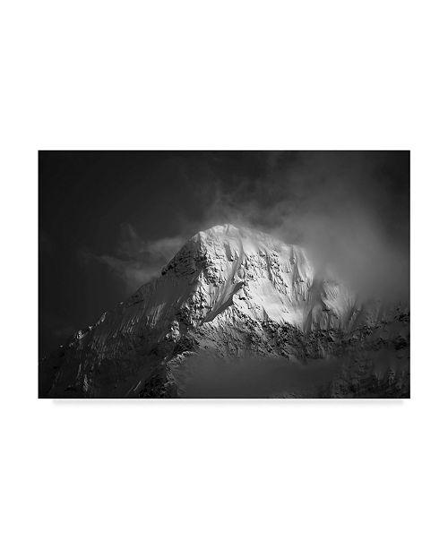 "Trademark Global Jason Matias 'White Mountain Centered' Canvas Art - 24"" x 16"""