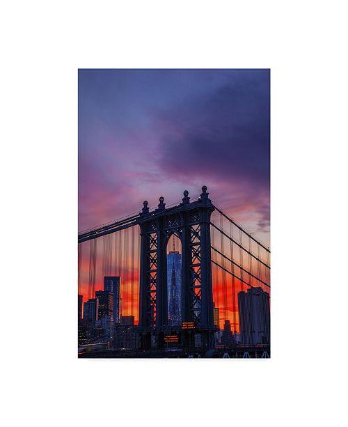 "Trademark Global Jason Matias 'Freedom Tower Bridge' Canvas Art - 22"" x 32"""