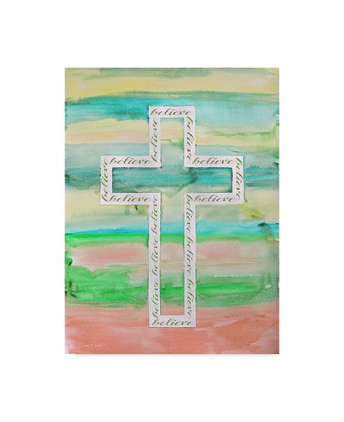 "Trademark Global Jean Plout 'Watercolor Cross 3' Canvas Art - 14"" x 19"""