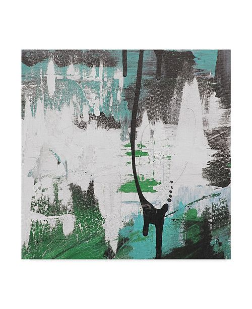 """Trademark Global Jean Plout 'Moody Blues Abstract 3' Canvas Art - 14"""" x 14"""""""
