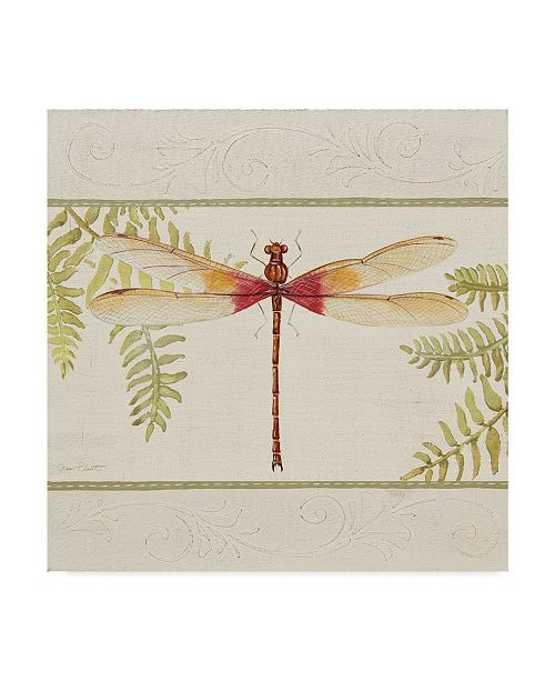 "Trademark Global Jean Plout 'Dragonfly Wonder 2' Canvas Art - 18"" x 18"""