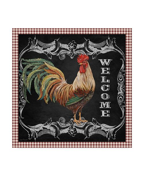 """Trademark Global Jean Plout 'Welcome Rooster 7' Canvas Art - 24"""" x 24"""""""