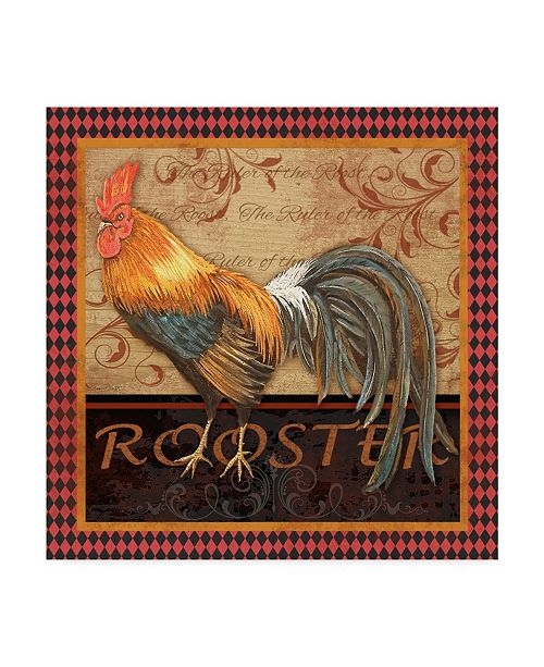 "Trademark Global Jean Plout 'Ruler Of The Roost Series 1' Canvas Art - 14"" x 14"""
