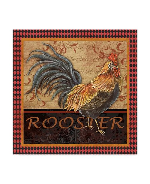 "Trademark Global Jean Plout 'Ruler Of The Roost Series 4' Canvas Art - 18"" x 18"""
