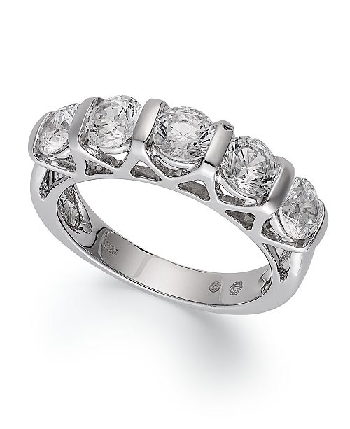 4ee6aabc580e3 Certified Five-Stone Diamond Ring in 14k White Gold (2 ct. t.w.)