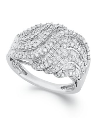 Diamond Twist Ring in Sterling Silver (1 ct. t.w.), Created for Macy's